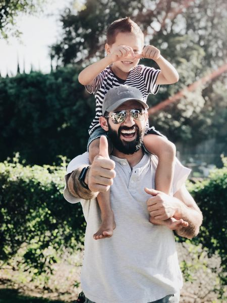 father and son - child custody laws