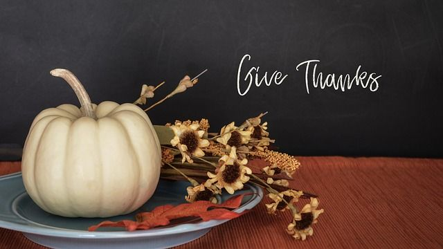 give thanks and white pumpkin