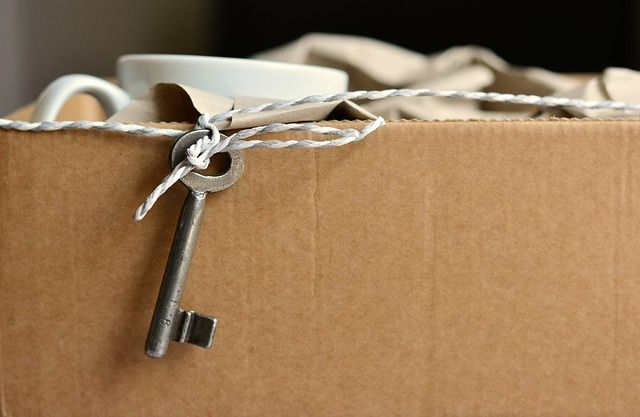 key in moving box