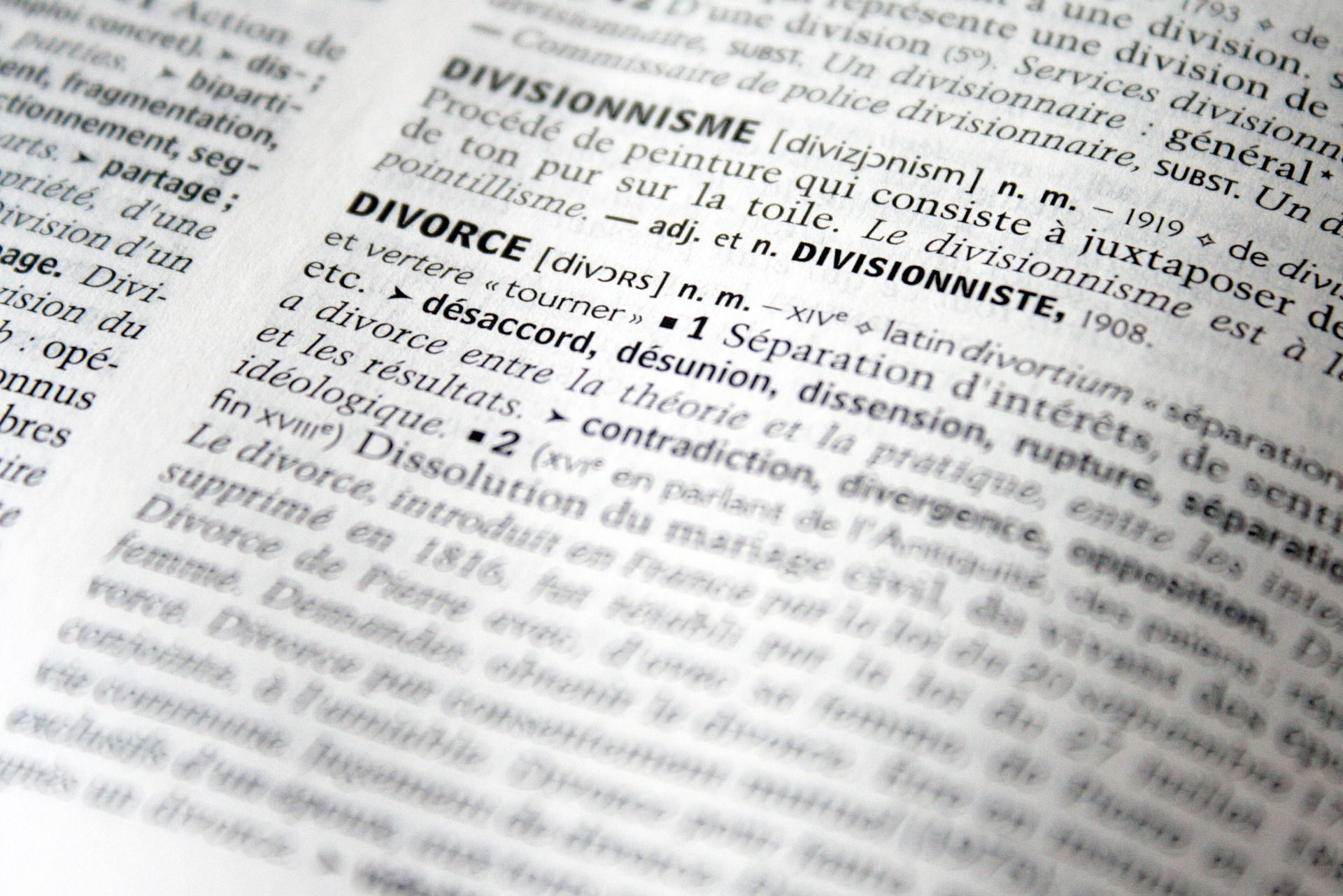 dictionary divorce